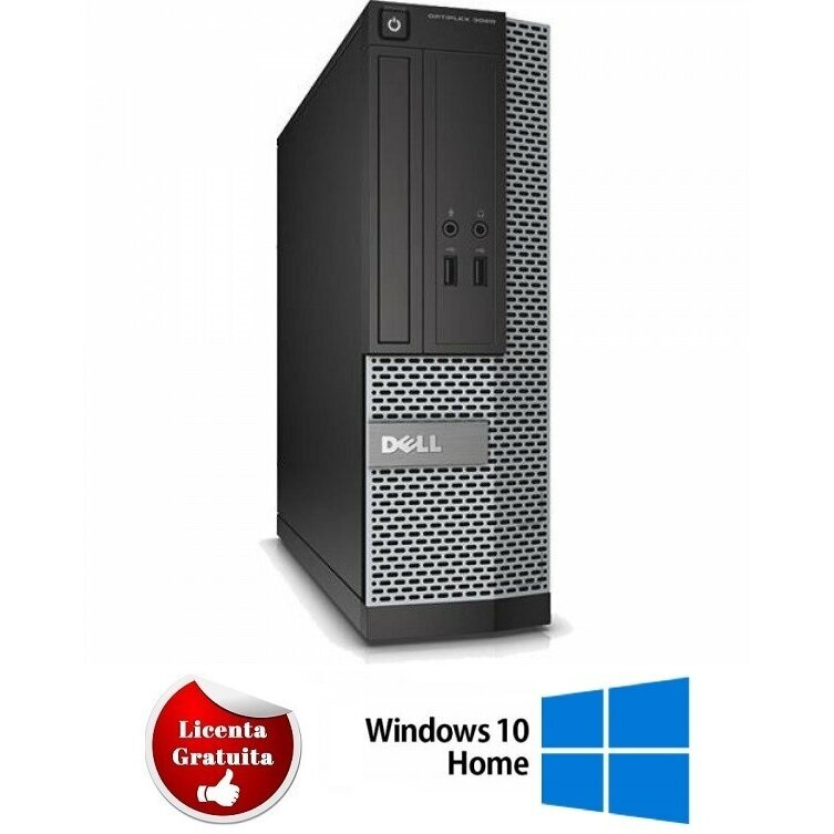 Calculator refurbished Optiplex 7010, i3-3220, 4GB DDR3, 250GB HDD SATA, DVD, SFF, Soft Preinstalat Windows 10 Home