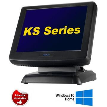 POS second hand Posiflex KS6615 Terminal Intel CeleronM 1.50GHz 2GB DDR3 320GB HDD SATA 15inch Touchscreen, Soft Preinstalat Windows 10 Home