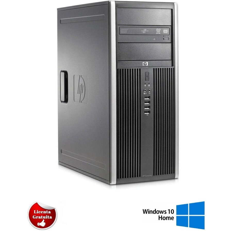 Calculator refurbished Elite 8200 i7-2600 3.40GHz up to 3.8GHz 8GB DDR3 500GB HDD DVD Tower Soft Preinstalat Windows 10 Home