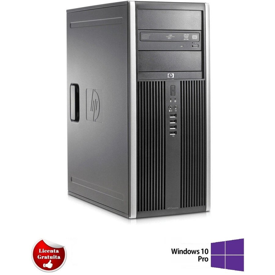 Calculator refurbished Elite 8200 i7-2600 3.40GHz up to 3.8GHz 8GB DDR3 500GB HDD DVD Tower Soft Preinstalat Windows 10 Professional