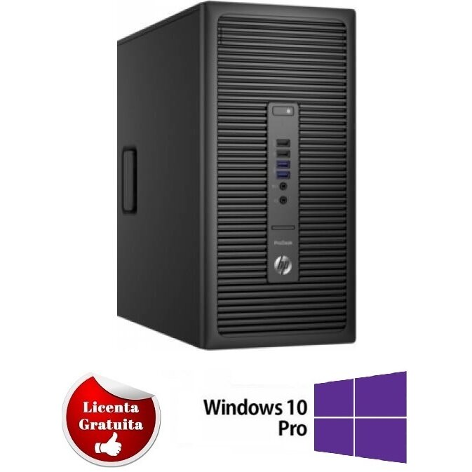 Calculator refurbished Prodesk 600 G2 Intel Core I5-6400T 2.20GHz up to 2.80GHz 4GB DDR4 500GB HDD DVD  Micro Tower Soft Preinstalat Windows 10 Professional