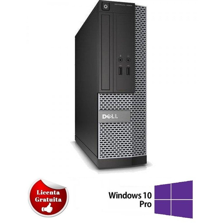 Calculator refurbished Optiplex 7010 Intel Core i7-3770 3.40GHz up to 3.90GHz 4GB DDR3 500GB HDD SATA DVD-ROM Desktop Soft Preinstalat Windows 10 Professional