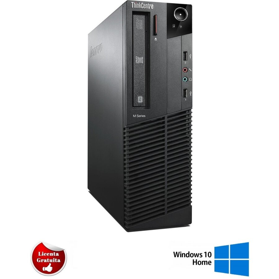 Calculator refurbished ThinkCentre M92p Intel Core i7-3770 3.4GHz up to 3.90GHz 4GB DDR3 500GB HDD SATA Desktop Soft Preinstalat Windows 10 Home