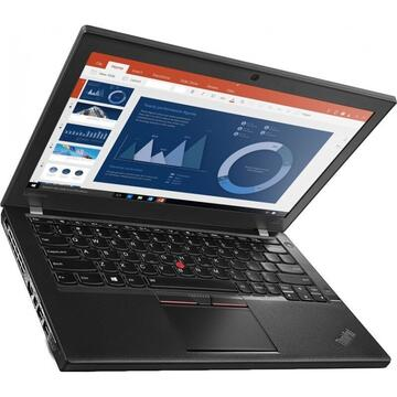 Laptop refurbished Lenovo Thinkpad X260 Intel i5-6300U 2.40GHz up to 3.00GHz 8GB DDR4 256GB SSD 12.5inch 1366x768 Webcam Soft Preinstalat Windows 10 Professional