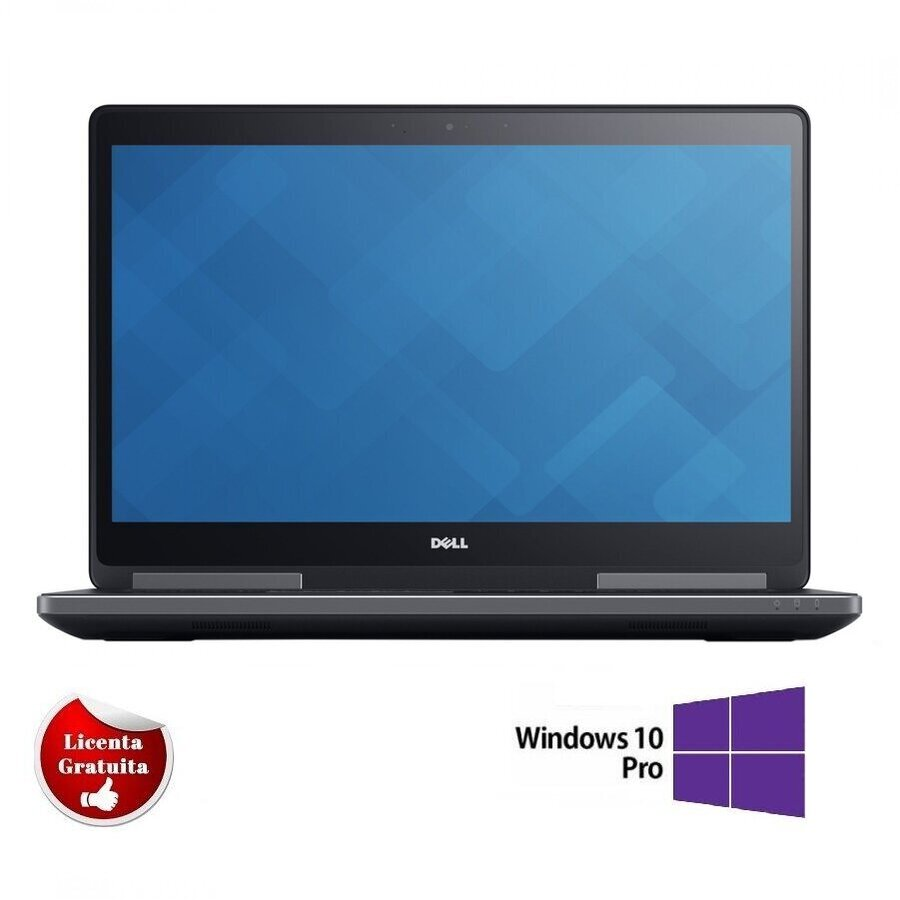 Laptop refurbished Precision 7710 Intel Core i7-6920HQ 2.90 GHz up to 3.80GHz 16GB DDR4 256GB SSD nVidia Quadro M3000M 4GB GDDR5 17.3inch FHD Webcam  SOFT PREINSTALAT WINDOWS 10 PRO