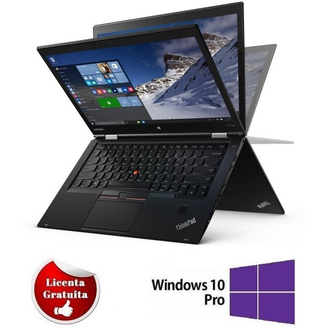 Laptop second hand ThinkPad X1 Yoga Intel Core i5-6300U 2.40GHz up to 3.00GHz 8GB LPDDR3 180GB SSD M.2 Sata 14inch FHD Pen Drive Touchscreen Windows 10 Professional