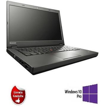 ThinkPad T440p i5-4300M 2.60GHz up to 3.30GHz 4GB HDD 500GB DVD-RW Webcam 14inch SOFT PREINSTALAT WINDOWS 10 PRO