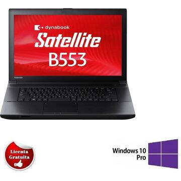 "Laptop second hand Toshiba B553 i5-3320 8GB DDR3 128GB SSD DVD 15.6"" Soft Preinstalat Windows 10 PRO"