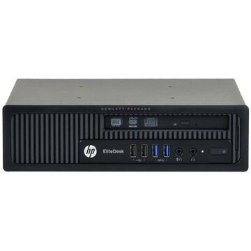 HP EliteDesk 800 G1 USDT Intel Core i3-4150 3.50GHz 4GB DDR3 500GB HDD, Monitor Dell P2211HT LED 22 inch Full HD + CADOU Camera Web USB 720P