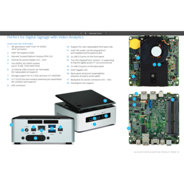 Intel NUC Core i5-5300U 2,3Ghz, 8GB, 128GB SSD, 2x mini-display connection USB 3.0, Monitor Dell P2211HT LED 22 inch Full HD + CADOU Camera Web USB 720P