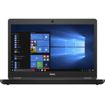 Laptop second hand Dell Latitude  5480 Intel Core i5 - 7300U  2.60Ghz up to 3.50GHz  8GB DDR4 256GB PCIe M.2 Sata 14 inch FHD Webcam Windows 10 PRO IT  iluminata