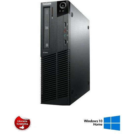 Calculator refurbished ThinkCentre M91p Core i5-2400S 2.5GHz up to 3.3GHz 4GB DDR3 HDD 500GB SATA DVD USFF Soft Preinstalat Windows 10 Home