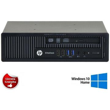 Calculator refurbished HP EliteDesk 800 G1 USDT Intel Core i3-4150 3.50GHz 4GB DDR3 500GB HDD Soft Preinstalat Windows 10 Home