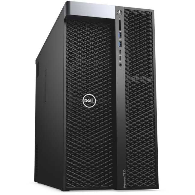 WorkStation second hand Precision Tower 7920 Intel Xeon 4110 Octa core 2.1GHz up to 3.0GHz  64GB DDR4 512GB SSD + 2 x 3TB HDD Nvidia quadro P4000 8GB