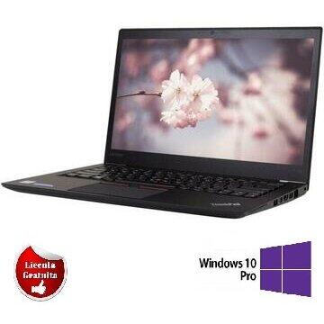 Laptop refurbished Lenovo ThinkPad T460s Intel Core i7 -6600U 2.60GHz up to 3.40GHz 20GB DDR4 256GB SSD 14inch 1920x1080 Webcam Soft Preinstalat Windows 10 Professional