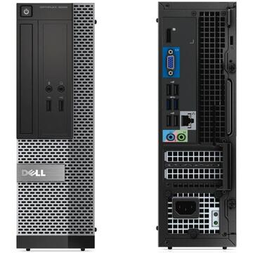 Calculator refurbished Dell Optiplex 3020 Intel Core i7-4770 3.40GHz up to 3.60GHz 8GB DDR3 240GB SSD DVD SFF Soft Preinstalat Windows 10 Professional