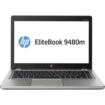 EliteBook Folio 9480m Intel Core I7-4600U 2.1 GHz up to 3.3 GHz 8GB DDR3 256GB SSD 14inch HD Webcam