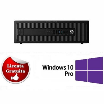 Calculator refurbished HP ProDesk 600 G1 Intel Core i5-4570 3.20GHz up to 3.60GHz 4GB DDR3 HDD 500GB Sata DVD-RW SFF Soft Preinstalat Windows 10 Professional