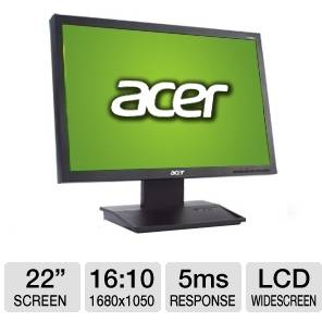 Monitor second hand Acer V223W 22 inch 5 ms