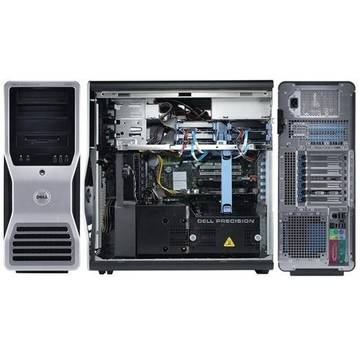 Calculator refurbished Dell Precision T7500 Xeon Dual Core E5502 1.87GHz 4GB DDR3 FB DIMM 250GB Sata DVD ATI X1300 256 MB Tower Soft Preinstalat Windows 7 Professional