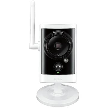 Produs NOU Camera supraveghere analog DLINK D-Link HD Wireless N Day/Night Outdoor Cloud Camera  with 16GB micro SD card