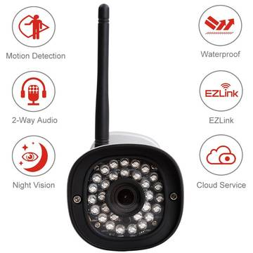 Produs NOU Camera supraveghere analog Foscam IP camera FI9900P FE 4mm H.264 FullHD 1080p Plug&Play