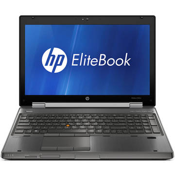 Laptop refurbished HP Elitebook 8560w i5-2540M 2.6GHz 8GB DDR3 320GB HDD Sata DVD Nvidia Quadro 1000 2GB Dedicat 15.6 inch  WWAN Webcam Soft Preinstalat Windows 7 Professional