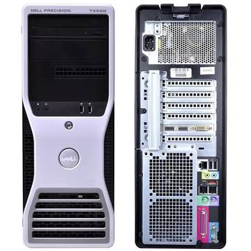 Calculator refurbished Dell Precision T3500 Xeon W3550  3.06GHz up to 3.33GHz 8GB DDR3 250GB HDD Sata DVD Nvidia Quadro 600 Tower Soft Preinstalat Windows 7 Professional