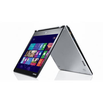 Laptop Renew Lenovo Yoga 3 14 Core i7-5500U 2.4 GHz 8GB DDR3 256GB SSD 14.1 inch FullHD Multitouch Bluetooth Webcam Windows 8.1