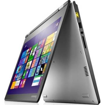Laptop Renew Lenovo Yoga 2 13 Intel Core i5-4210U 1.70GHz 4GB DDR3 500GB HDD 13.3 inch Full HD Multitouch Webcam Windows 8.1
