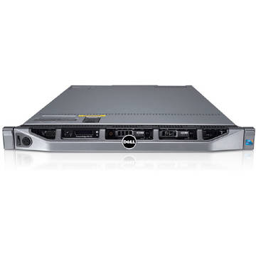 Server second hand Dell PowerEdge R610 2 x Quad Core E5540 2.53Ghz 16GB DDR3 2 x 146GB SAS DVD Raid Perc 6i 2 x PSU Soft Preinstalat Windows Server 2012 Essentials ROK 25 clienti