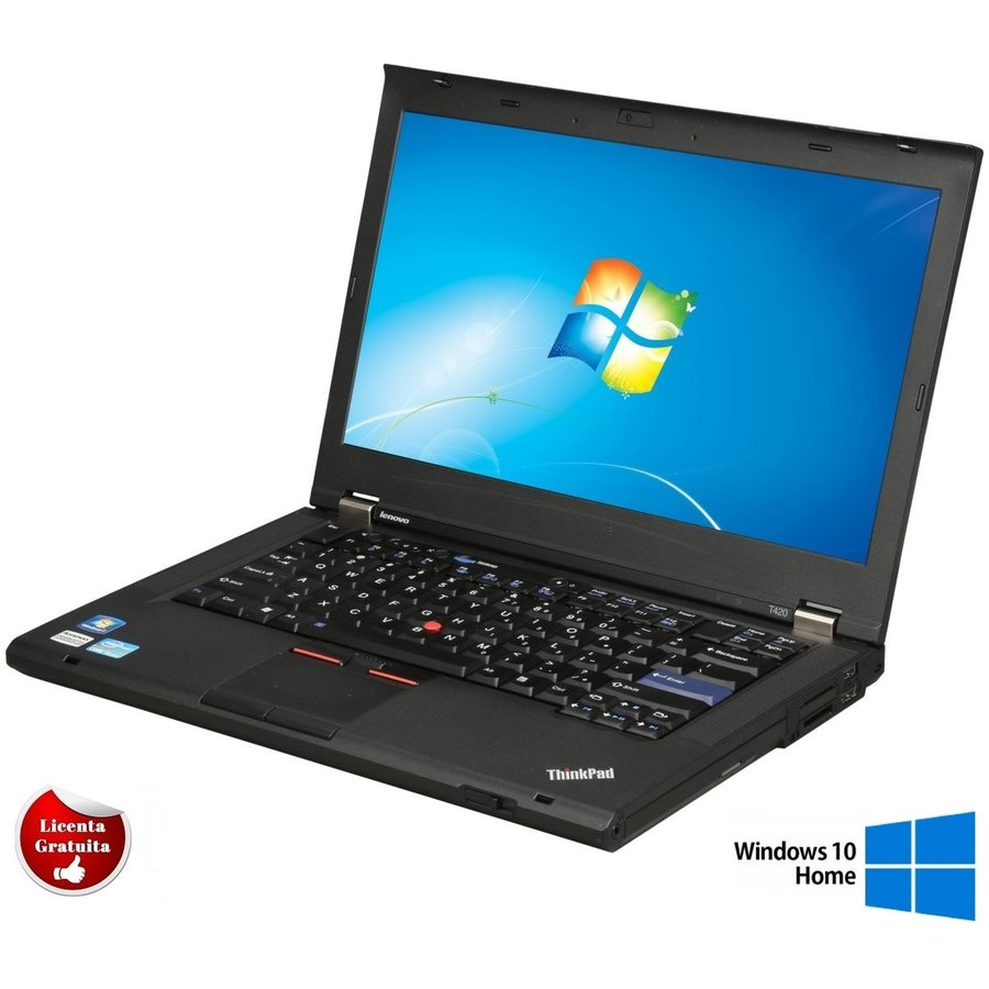 Laptop refurbished ThinkPad T420 i5-2520M 2.5GHz up to 3.2GHz 4GB DDR3 320GB HDD Sata DVD-RW 14inch Soft Preinstalat Windows 10 Home