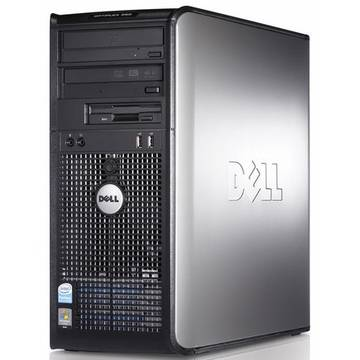 Calculator second hand Dell OptiPlex 360 Core 2 Duo E8500 3.16GHz 4GB DDR2 320GB (2 x160)  HDD Sata RW Tower